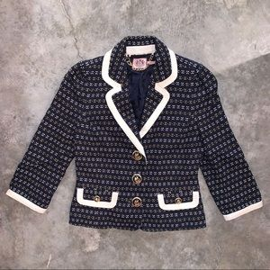 Juicy Couture Blazer, Like New, Navy & White